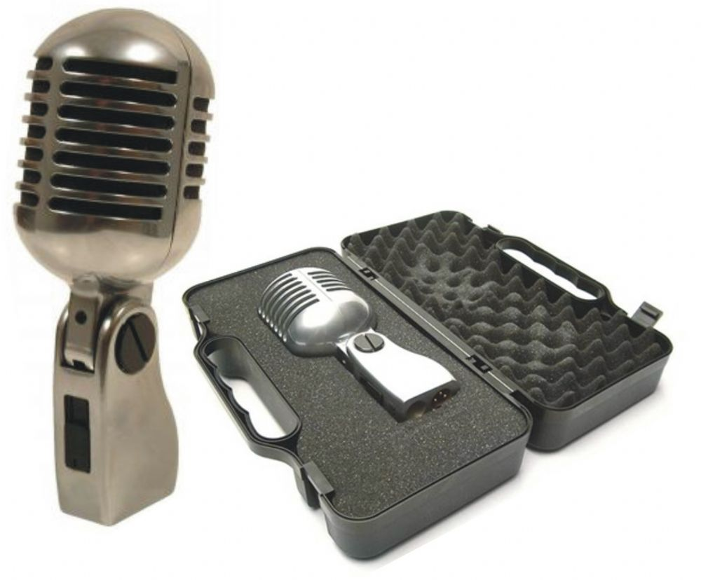 Yoga Vintage Style Elvis Retro Microphone Including Case